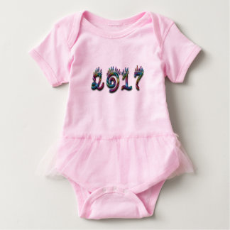 Colorful Rainbow Typography Happy New Year 2017 Baby Bodysuit