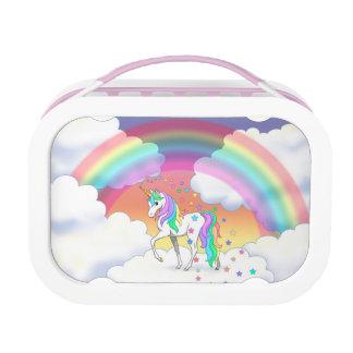 Colorful Rainbow Unicorn and Stars Lunchbox
