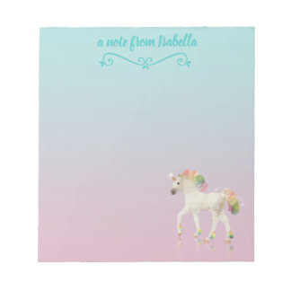 Colorful Rainbow Unicorn Polygon Name - Notepad