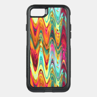 Colorful Rainbow Waves OtterBox Commuter iPhone 8/7 Case