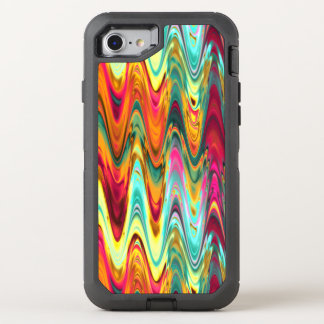 Colorful Rainbow Waves OtterBox Defender iPhone 8/7 Case