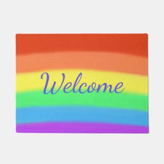 Colorful Rainbow Welcome Doormats