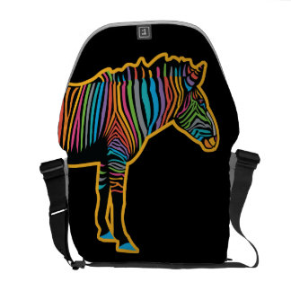Colorful Rainbow Zebra Commuter Bags