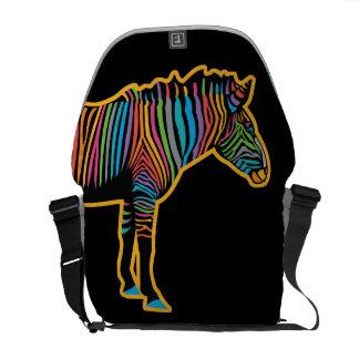 Colorful Rainbow Zebra Courier Bag