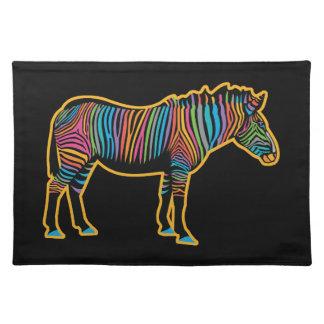 Colorful Rainbow Zebra Placemat