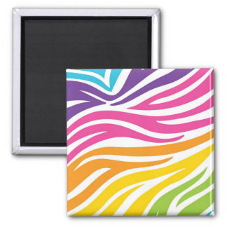 Colorful Rainbow Zebra Print Pattern Gifts Magnet