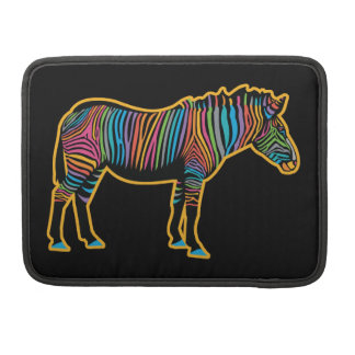 Colorful Rainbow Zebra Sleeve For MacBooks