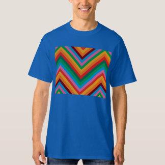 Colorful Rainbow Zig Zag Chevron Tshirt