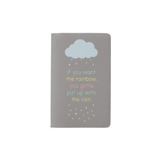 Colorful Raindrops Pocket Notebook - Grey