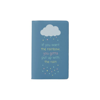 Colorful Raindrops Pocket Notebook - Navy Blue