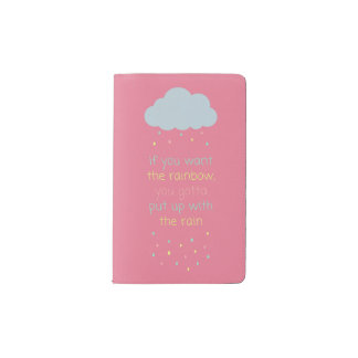 Colorful Raindrops Pocket Notebook - Pink Pastel