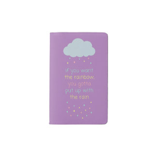Colorful Raindrops Pocket Notebook - Purple Pastel