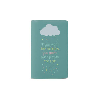 Colorful Raindrops Pocket Notebook - Speckled Blue