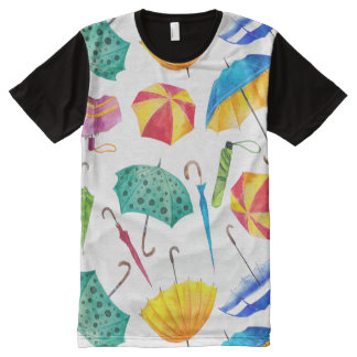 Colorful Rainy Day All-Over Print T-Shirt