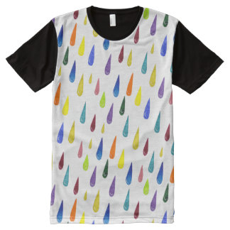 Colorful Rainy Day Pattern All-Over Print T-Shirt