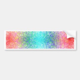 Colorful random lines and shapes bumper stickers