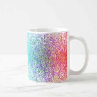 Colorful random lines and shapes coffee mug