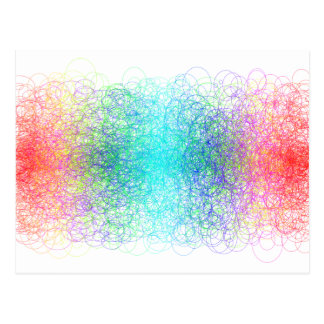 Colorful random lines and shapes post card