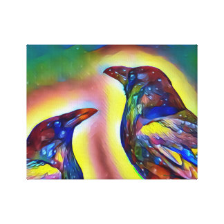 Colorful Raven wall canvas print
