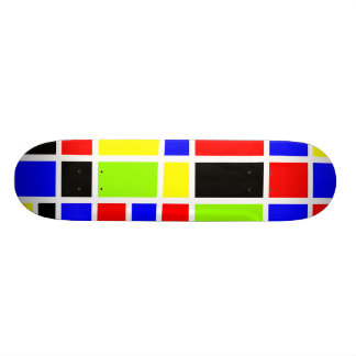 Colorful Rectangles 02 20.6 Cm Skateboard Deck