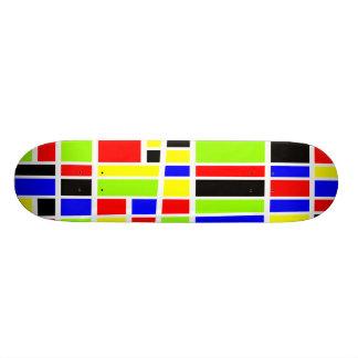 Colorful Rectangles 03 Skate Board