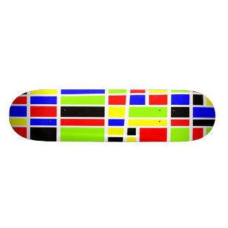 Colorful Rectangles 04 - Old School Skate Board