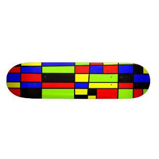 Colorful Rectangles 05 - Old School Custom Skate Board