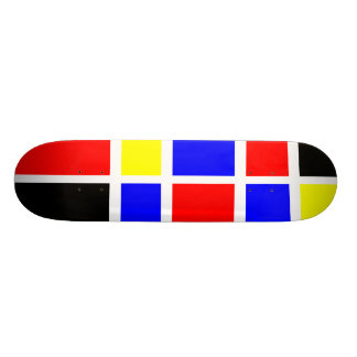 Colorful Rectangles 06 - Old School Skate Deck