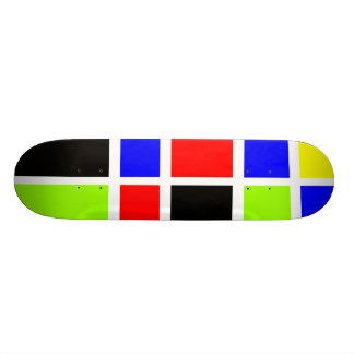 Colorful Rectangles 07 - Old School Skate Board