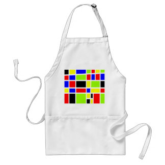 Colorful Rectangles Adult Apron