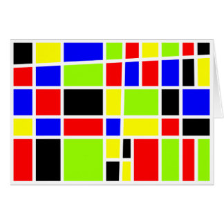 Colorful Rectangles Greeting Card