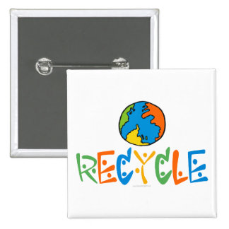Colorful Recycle 15 Cm Square Badge