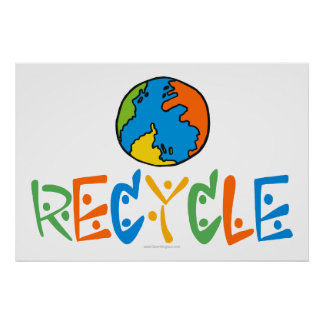 Colorful Recycle Poster