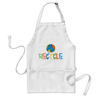 Colorful Recycling Adult Apron