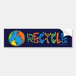 Colorful Recycling Car Bumper Sticker