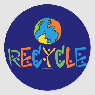 Colorful Recycling Round Sticker
