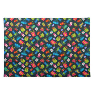 Colorful Red Blue Green Christmas Gift Placemat