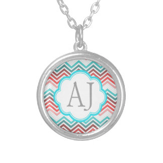 Colorful red, pink, blue, teal chevron zigzag jewelry