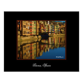Colorful Reflections in Girona, Spain Poster