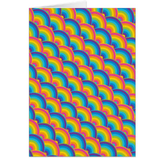 Colorful Repeating Rainbow Pattern Gifts Greeting Card