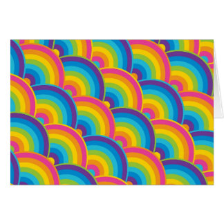 Colorful Repeating Rainbow Pattern Gifts Note Card