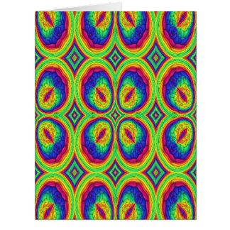 Colorful repeating stylish pattern card
