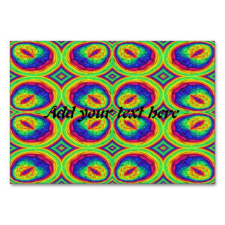 Colorful repeating stylish pattern table cards
