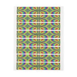 Colorful repeating stylish pattern wraparound address label