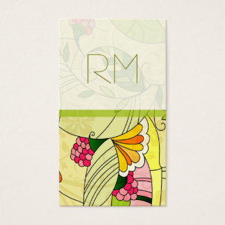 Colorful Retro Abstract Floral Collage