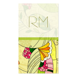 Colorful Retro Abstract Floral Collage Pack Of Standard Business Cards
