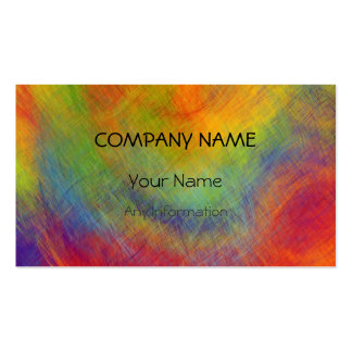 Colorful Retro Abstract Painting 7 Pack Of Standard Business Cards