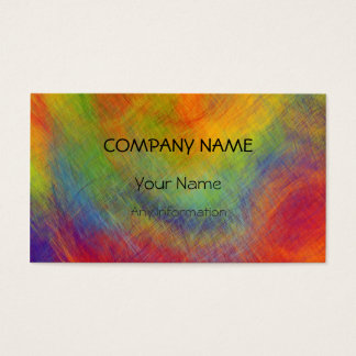 Colorful Retro Abstract Painting 7 Business Card