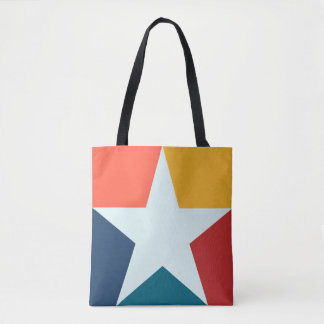 Colorful Retro Abstract Star All-Over-Print Bag