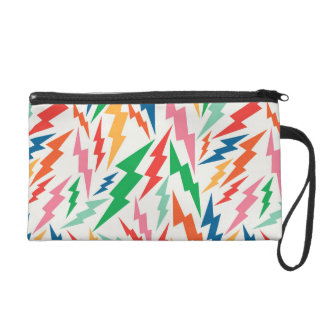Colorful, Retro Bolt Pattern. Wristlet